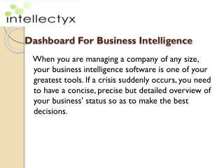 Perfect Business Intelligence Dashboards