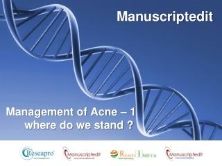 Management of Acne (Part-1)