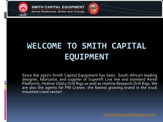 Smith Capital Equipment-Truck Crane