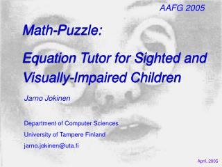 Math-Puzzle: Equation Tutor for Sighted and Visually-Impaired Children