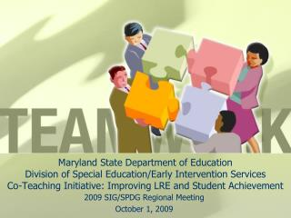 Maryland State Department of Education Division of Special Education