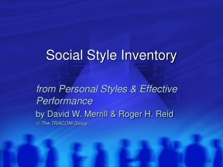 Social Style Inventory