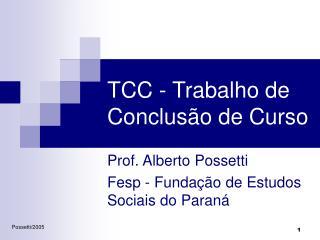 TCC - Trabalho de Conclus o de Curso
