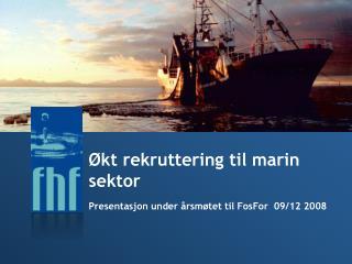 kt rekruttering til marin sektor