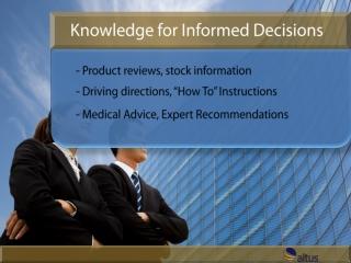 Knowledge for Informed Decisions - Altus Branded Version 2