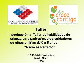 Taller   Introducci n al Taller de habilidades de crianza para padres