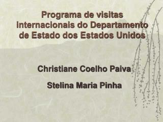 Programa de visitas internacionais do Departamento de Estado dos Estados Unidos