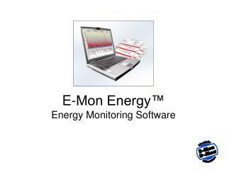 E-Mon Energy  Energy Monitoring Software