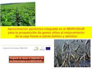 Aproximaci n gen mica integrada en el MERCOSUR para la prospecci n de genes  tiles al mejoramiento de la soja frente a e