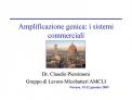 Amplificazione genica: i sistemi commerciali