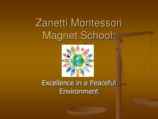 Zanetti Montessori  Magnet School: