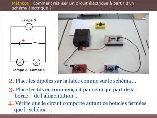 M thode : comment r aliser un circuit  lectrique   partir d un  sch ma  lectrique