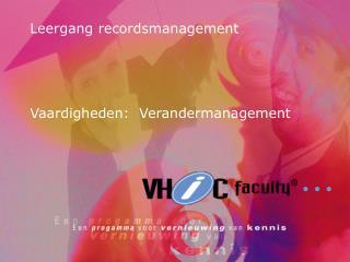 Leergang recordsmanagement