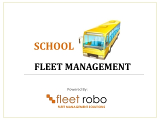 School Bus Fleet Management Solution