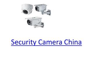 Security�Camera�China