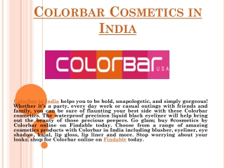 Colorbar Cosmetics Stores for Women in India
