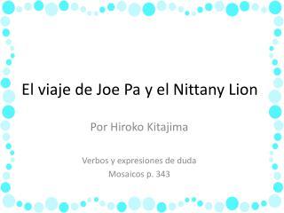 El viaje de Joe Pa y el Nittany Lion