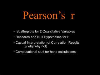 Pearson s  r