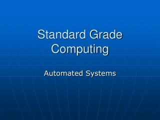 Standard Grade Computing