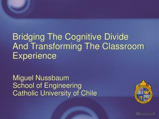 Bridging The Cognitive Divide And Transforming The Classroom ...