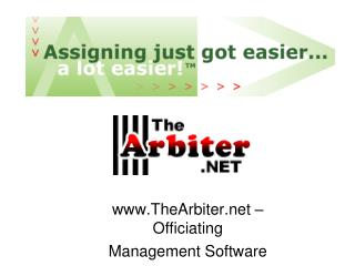 TheArbiter   Officiating Management Software