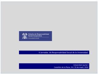 II Jornadas  de Responsabilidad Social de la Universidad.