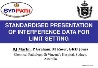 STANDARDISED PRESENTATION OF INTERFERENCE DATA FOR LIMIT SETTING