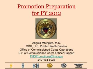 Promotion Preparation  for PY 2012