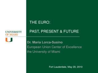THE EURO:  PAST, PRESENT  FUTURE