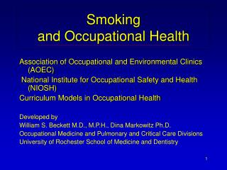 Smoking  and Occupational Health