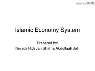 Islamic Economy System