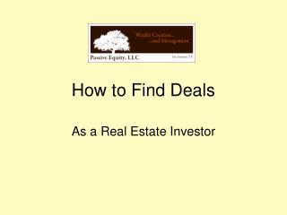 How to Find Deals as a Real Estate Investor