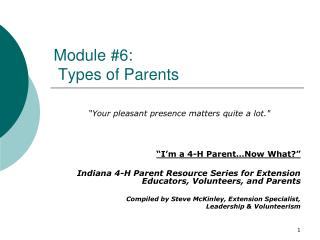 Module 6:    Types of Parents