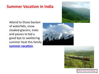 summer vacation in india