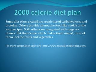 2000 calorie diet plan