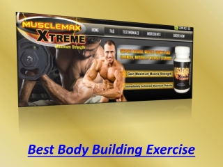 Best Body Building Exercise