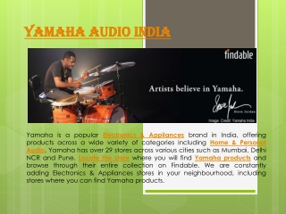 Yamaha Audio Sound Stores in India