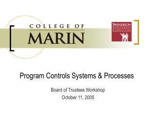 Program Controls Systems  Processes