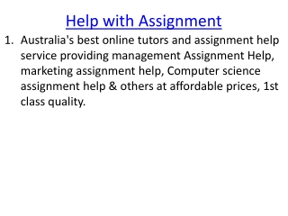 Help with Assignment