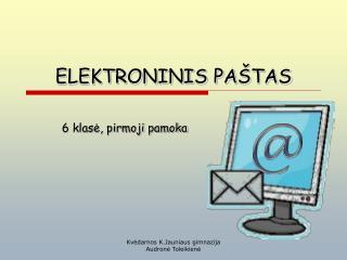 ELEKTRONINIS PA TAS