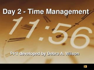Day 2 - Time Management