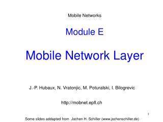 Module E  Mobile Network Layer