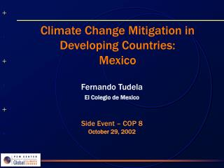 Climate Change Mitigation in Developing Countries: Mexico