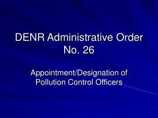 DENR Administrative Order No. 26