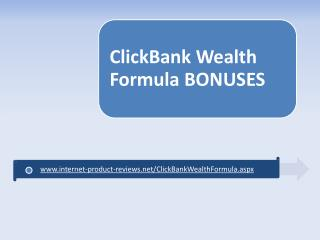 Clickbank Wealth Formula Review + Bonus