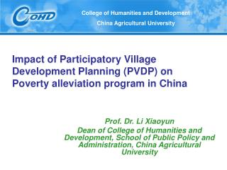 Impact of Participatory Village Development Planning PVDP on  Poverty alleviation program in China