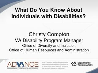 What Do You Know About People with Disabilities