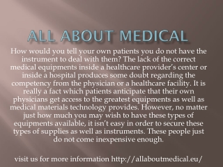 All about medical