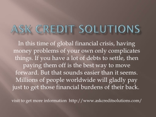 Ask credit solutions