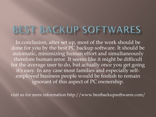 best backup softwares